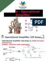 Unit III- Operational Amplifier