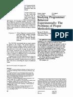 Brooks, Ruven E. -- Studying Programmer Behavior Experimentally- The Problems of Proper Methodology