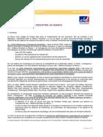 l AFD Et l Industrie Au Maroc