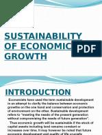 sustainability of economic growth