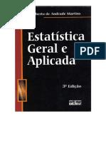 C Livro Estatística Geral e Aplicada Gilberto de Andrade Martins 3ª Edição