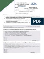 Evaluacion Octavo Lengua