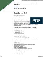 Harga Borong Upah - Trijaya Suksestama