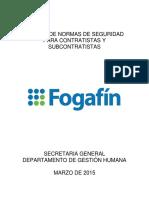 Manual de Normas de Seguridad Para Contratistas y Subcontratistas