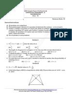 9 Maths Cbse Papers Sa 2 Cce 2012 Set 9