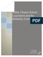 Public Charter School Legislation and the Kentucky Constitution
