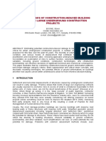 Evaluating Risks of Construction-Induced Building Damage for Large Underground Construction Projects