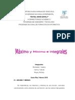 Maximo y Minimo e Integrales