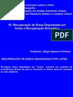 10 Recuperacao de Areas Degradadas e Recuperacao Energetica
