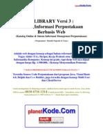 Analisis Sistem Informasi Perpustakaan Berbasis Web - eLibrary v3 untuk Contoh Tugas Akhir(TA), Skripsi dan Tesis bidang Informatika Komputer