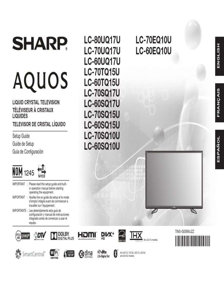 sharp aquos 28470eq10 pdf ac power plugs and sockets