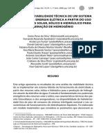 Analise Da Viabilidade Tecnica Para Geracao de Hidrogenio