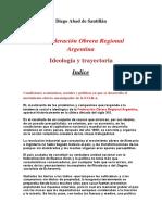 La F.O.R.a, Ideología y Trayectoria de D. Abad de Santillán