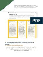 2. Raising Awareness and Fostering Informed Debate