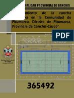 CANCHA DEPORTIVA DE LA COMUNIDAD DE PITUMARCA