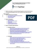 Tech Tool FAQs v1.44 Feb 2017