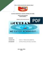 Cuidado Del Agua en El Colegio Parroquial Nuestra Señora de Fátima