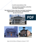Report on Judiciary Article