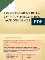 6- Amortissement de La Valeur Nominale Des Actions