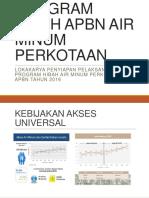 HIBAH AIR MINUM Apbn 2016 Bappenas