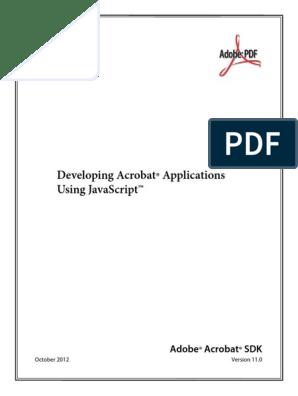 Javascript js acrobat pro Developer Guide | Portable