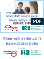 Women's Health, Innovation, and the Economic Stability of Families - Capitol Hill Briefing