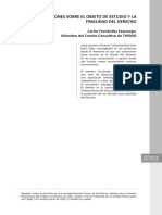 REFLEXIONES SOBRE EL OBJETO DE ESTUDIO Y LA FINALIDAD DEL DERECHO - CARLOS FERNÁNDEZ SESSAREGO.pdf