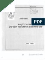 Cassetti Budget Proposal