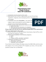 Fleischmanns First Maple Fest 2017 - Bake Off Application and Guidelines