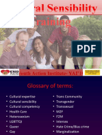 Cultural (LGBTQQI) Sensitivity Training