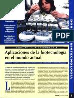 Aplicaciones de La Biotecnologia en El Mundo Actual Albert a. Vida Rural 1999 No. 79