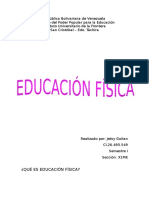 EDUCAIÓN FISICA