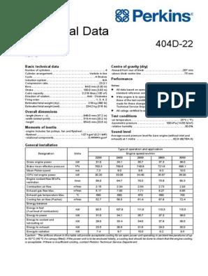 Perkins 404D-22G Model data | Motor Oil | Vehicle Parts
