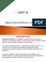 Unit v - Organisational Climate