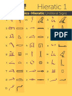 Ancient Egyptian Uniliteral Hieroglyphs Hieratic