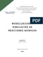 Modelización y Simulación de Reactores Químicos
