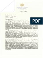 Letter to U.S. Senate Finance Committee