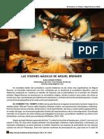 """Articulo """"LAS VISIONES MÁGICAS DE MIGUEL BRENNER"""". En"""