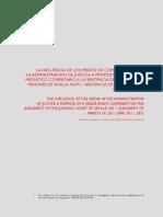 La Influencia de Los Medios de Comunicacion en La Administracion de Justicia. Comentario a Una Sentencia Juzgado Menores de Sevilla