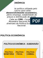 Políticas Econômicas Resumo