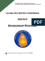 Sponsorship Proposal - Leo Conference - MD 306