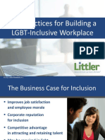 Best Practices for Building a LGBT-Inclusive Workplace