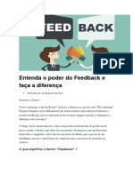 Entenda o Poder Do Feedback