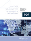 Trends in Venture Capital, Angel Investments, and Crowdfunding across the Fifty Largest U.S. Metropolitan Areas