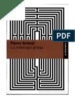 La Mitología Griega, Pierre Grimal.