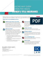 7 Reasons Why Every Home buyer Needs Owners Title Insurance
