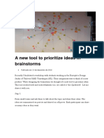 A New Tool to Prioritize Ideas in Brainstorms