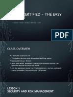 CISSP Certified - Outline