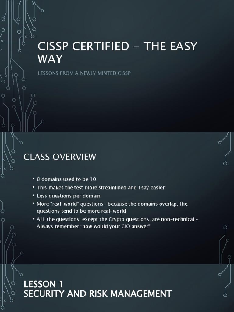 CISSP Certified - Outline | Denial Of Service Attack