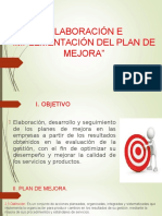 """""""Guía Para La Elaboración e Implementación Del Plan de Mejora"""""""
